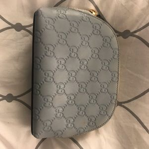 Gucci Bags - FLASH SALE ! ⚡️Light blue Gucci cosmetic pouch